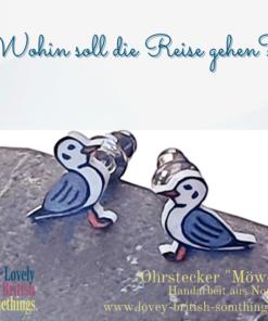 Ohrstecker * Ohrringe * Möwe