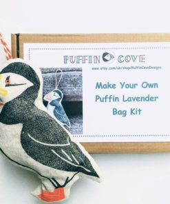 Bastel-Set Lavendelkissen in Puffin-Form. Handarbeit aus Norfolk.