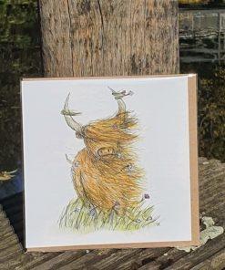 Karte * Grußkarte Highland Cow