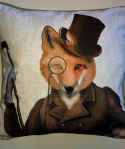 Kissen Exzentrischer Fuchs-Gentleman
