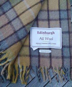 Schottische Tartan-Decke aus recycelter Wolle