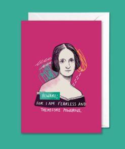 Grußkarte mit einem Zitat der Autorin Mary Shelley